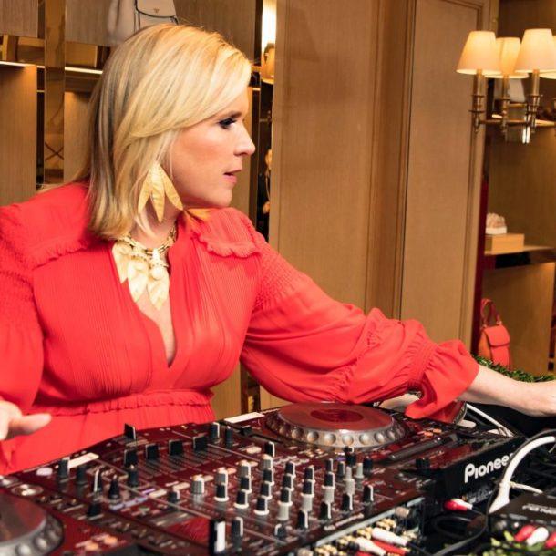 Marjorie Gubelmann playing DJ music