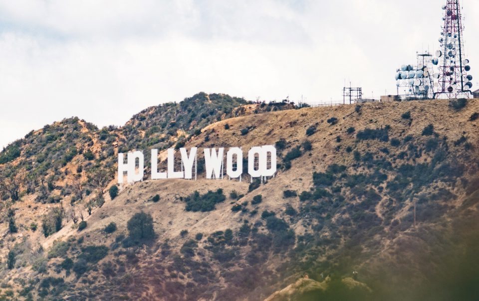A photo of the Hollywood sign in the mountains of California. Celebrities like Ellen have faced backlash in response to allegations that undermine celebrity idolization