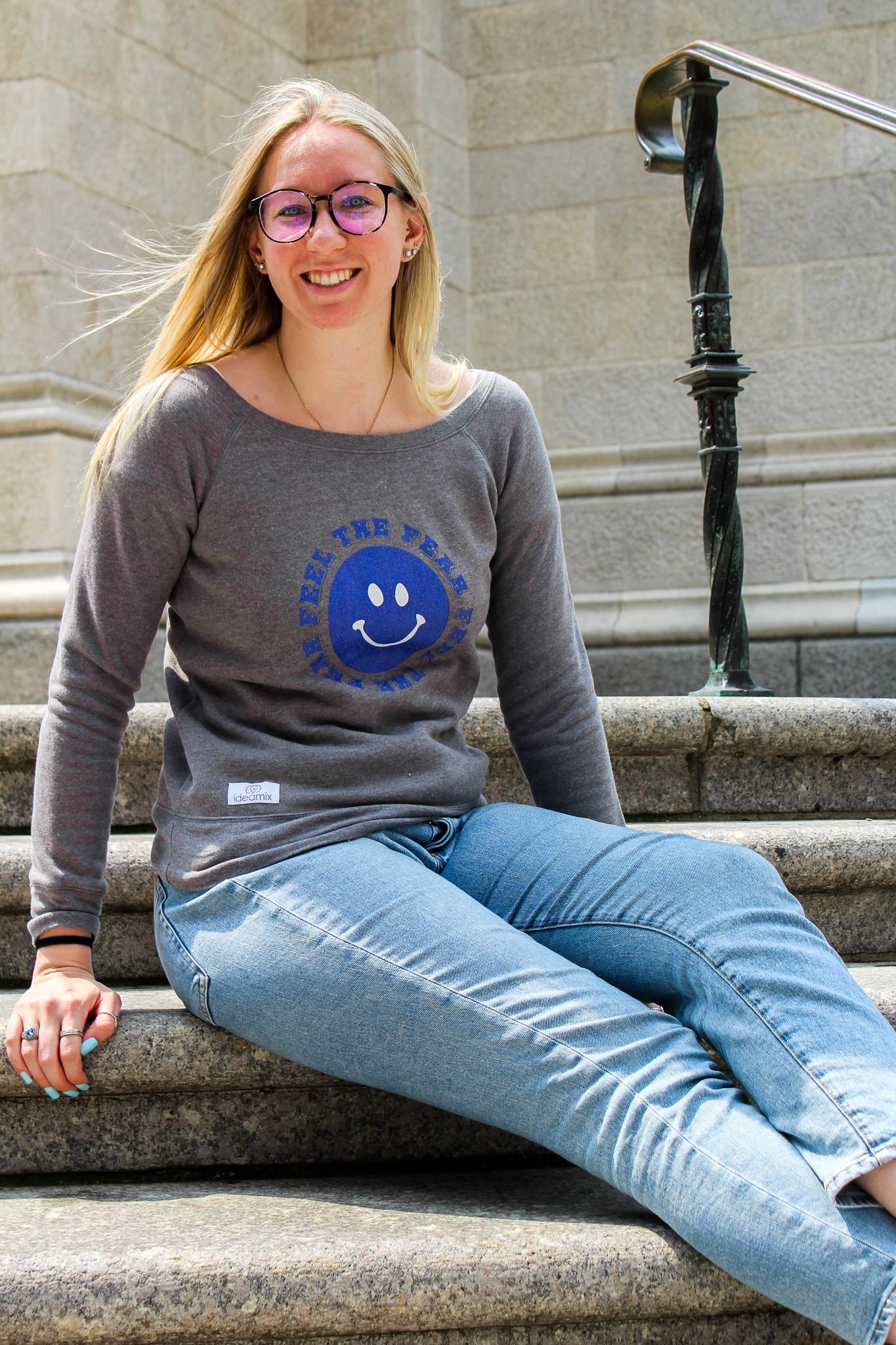 Feel the Fear Women's Wide Neck Sweatshirt