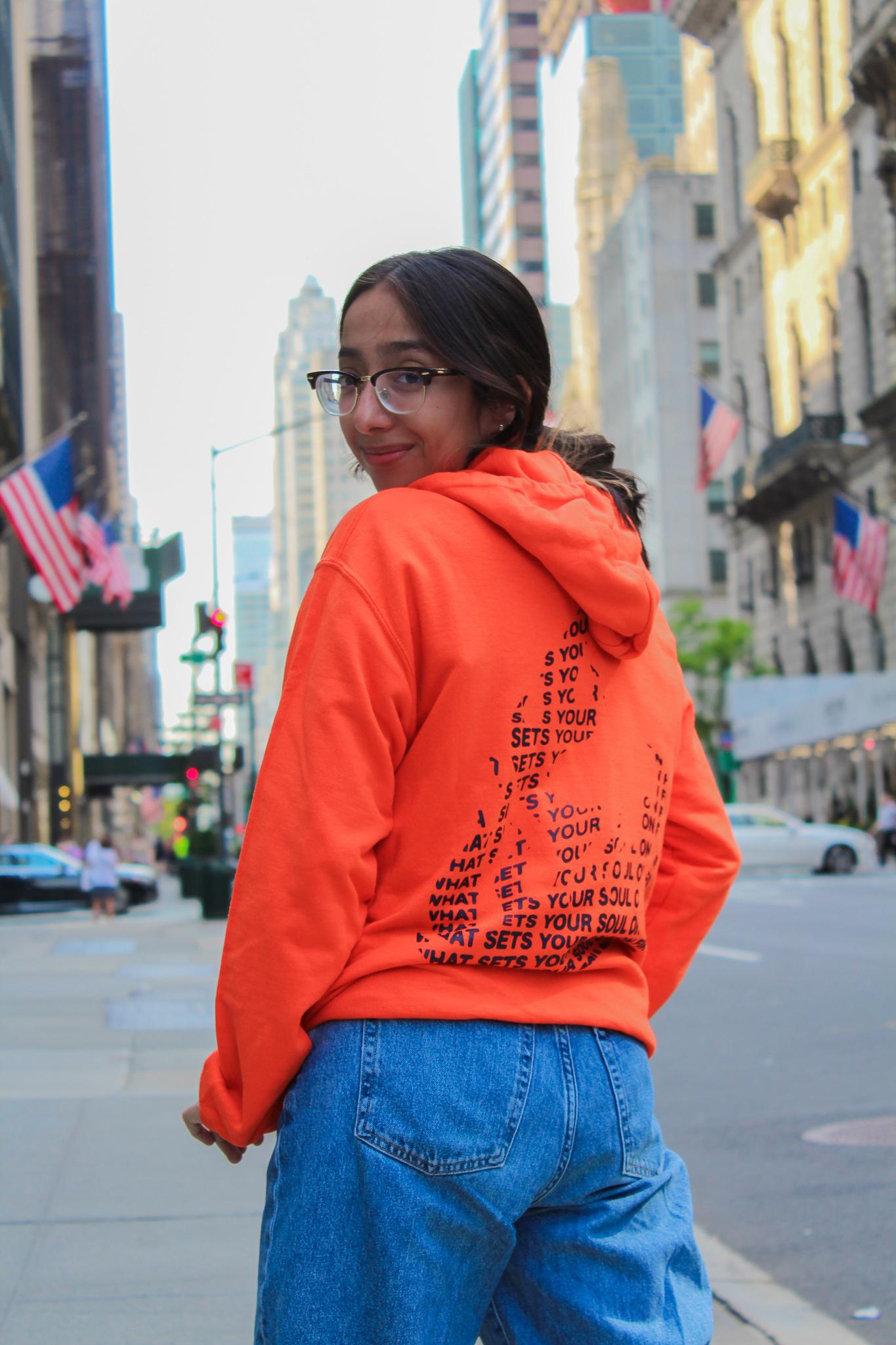 Seek What Sets Your Soul on Fire Orange Hoodie